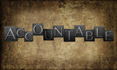 Word 'Accountable' — Stock Photo