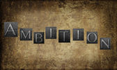Letters spell word 'ambition' — Stock Photo