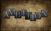Word 'Ambition' — Stock Photo