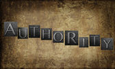 Word 'Authority' — Stock Photo