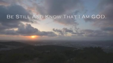 Be still and know that I am GOD — Stock Video