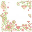 Royalty-Free Stock Vectorafbeeldingen: Elegant floral background with hearts