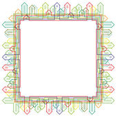 Abstracte lineaire stad silhouet frame design. eps10 — Stockvector