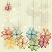 Glass decorative flowers. Eps10 — Stock Vector