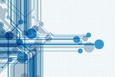 Sfondo astratto blu con germogli di crescente stilizzati. eps10 — Vettoriale Stock