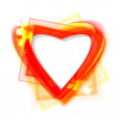 Bright shiny frame in the shape of heart. — Stockvectorbeeld