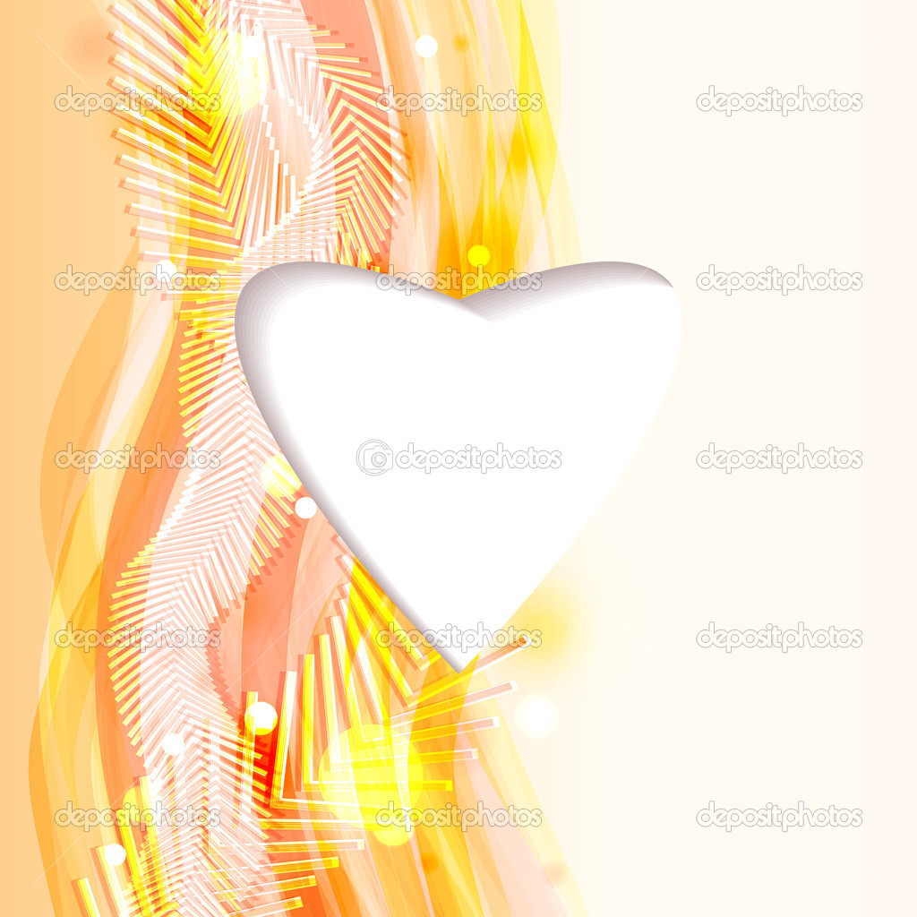 Bright abstract background with heart and flowing lines. Eps10 — Stock Vector #18140979
