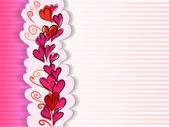 バレンタイン グリーティング カードと手描き下ろし心 — ストックベクタ