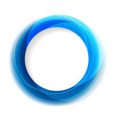Blue circle frame with white copyspace — Stock Vector