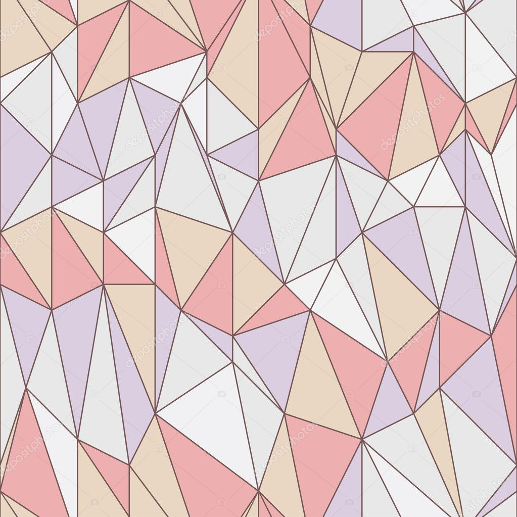 Seamless geometric pattern with triangular grid Stock
