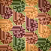 Nahtlose retro vintage hintergrund mit geometrischen spiralen. eps10 — Stockvektor