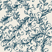 Beautiful seamless floral background with branches — Stock Vector