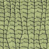 Sans couture main dessinée vintage abstrait avec des vagues — Vecteur