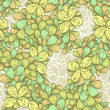 Seamless abstract vintage hand drawn floral pattern — Vector de stock #26842601