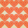 Seamless background with abstract striped retro hearts — Stock Vector #26845707