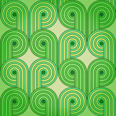 винтаж ретро бесшовный фон с зелеными ростками — Cтоковый вектор