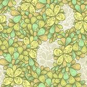 Senza soluzione di continuità astratta mano vintage disegnata motivo floreale — Vettoriale Stock