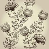 Seamless elegant retro floral background — Stock Vector