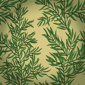 Seamless vintage background with green rosemary — Cтоковый вектор