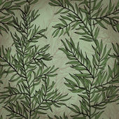 Seamless vintage background with rosemary plant — Stock Vector