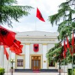 Historical building of albanian parliament — Stock Photo