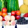 Fresh organic vegetables and fruits — Stock Photo
