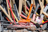 Various instruments for carpentry and reparation — Stock Photo