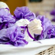 Packets with lavender flowers — Stock Photo