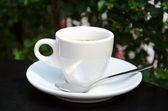 White espresso cup — Stock Photo