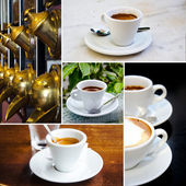 Set of espresso and cappuccino cups — Stock Photo