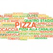 Traditional Italian pizza types — Stock Vector
