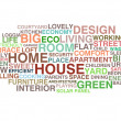 Stock Vector: House and home word cloud