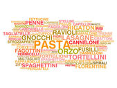 Types of Italian pasta — Stock Vector