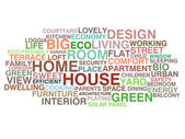 House and home word cloud — Stok Vektör