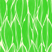 Seamless green floral pattern with vertical leaves — Stock Vector