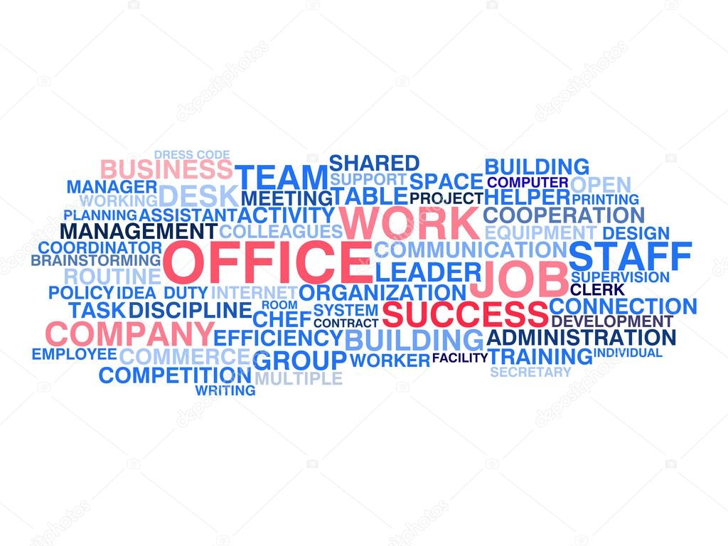 successful business office job word cloud concept vector by tairen10 business office wallpaper