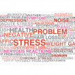 Stock Vector: Stress symptoms. Word cloud concept