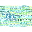 Stock Vector: Diet and weight loss. Word cloud
