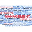 Stock Vector: Effective management. Word cloud
