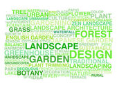 Landscape design. Word cloud — Stock Vector