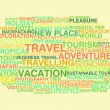 Travelling. Word cloud — Stock Vector