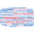 Insurance. Word cloud  — Stock Vector