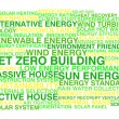 Net zero building. Word cloud concept — Stock Vector #36037305