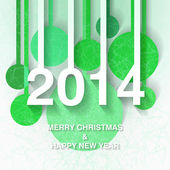 2014 Christmas and New Year greeting card — Stock Vector
