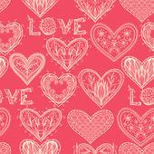 валентина, фон с сердечками — Cтоковый вектор