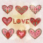 Valentýnské přání s grunge srdce — Stock vektor