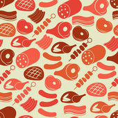 Seamless pattern with meat products — Stock Vector