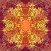 Grunge vintage dark seamless pattern with ornate flower — Stock Vector