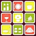 Set of 9 retro icons of kitchen utensils — Stock Vector #37845029