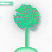 Infographic template with green tree — Stock Vector